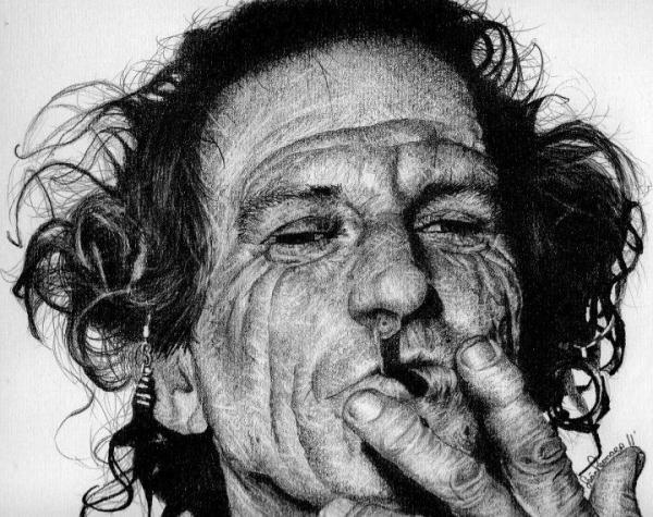 Keith Richards by SeanLeonardArt
